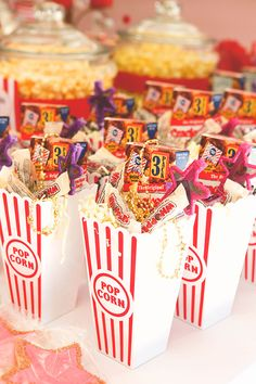 Hollywood glam birthday party theme for kids. Party favors!