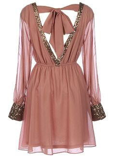 Dusty pink Libertine Wink Dress - Great Holiday dress
