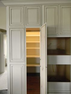 Love the idea of the walk in Pantry looking like a cabinet