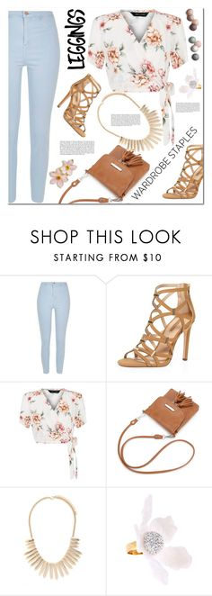 """Wardrobe Staples: Leggings"" by christinacastro830 ❤ liked on Polyvore featuring River Island, Dorothy Perkins, New Look, Forever 21, Revé, Haze, Lele Sadoughi, Leggings and WardrobeStaples"