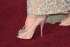 Lily James' Christian Louboutin shoes at the Cinderella premiere