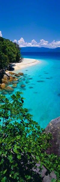 Fitzroy Island, in Far North Queensland it is 30km from Cairns & is surrounded by a reef system that's part of The Great Barrier Reef
