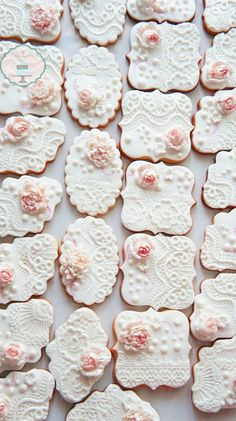 Wedding cookies in white ..