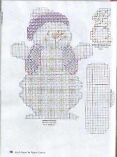 Snowman,Polar Bear-Plastic Canvas Pattern or Kit We Love Snow Screen-Penguin