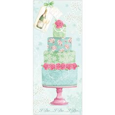 I Do I Do I Do Wedding Cake greetings card from Phoenix Trading £1.75 each or £1.40 when buying 10 or more.  Wedding