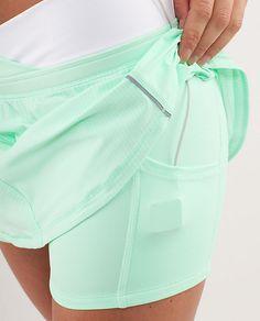 lululemon RUN:Pace Running Skirt - mint - with iPod pockets!