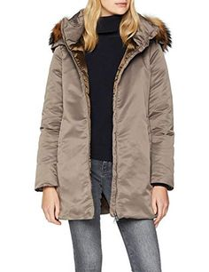 ADD Parka with Down Padding and Fur Border Mujer Womens Parka, Gem S, Military Jacket, Raincoat, Fur, Summer Street, Amazon, Gypsy, Stones