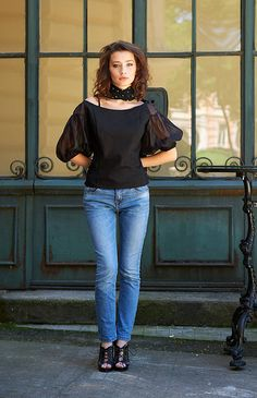 Hey, I found this really awesome Etsy listing at https://www.etsy.com/listing/521836234/women-black-tee-off-shoulder-top-puff