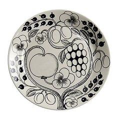 Arabia Paratiisi Finland Black Plate 21cm Kitchen New Design Kaipiainen