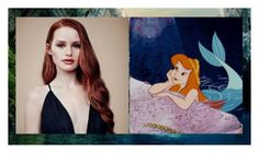 """""""redhead neverland mermaid"""" by sugarpixielh ❤ liked on Polyvore featuring art"""