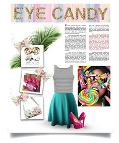 """""""Eye Candy"""" by heather-lauren-drew ❤ liked on Polyvore featuring Americanflat, Elliott Lucca, Dollhouse and Jessica Simpson"""
