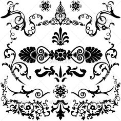 Vintage Design Elements - Borders Decorative