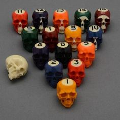 Halloween billiards ball set