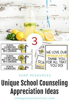 Curious about what to do for National School Counseling Week? This quick and low-prep lemonade theme Uk College, College Success, College Majors, College Tuition, Online College, Education College, College Tips, Newcastle College, National School Counseling Week