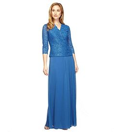 Alex Evenings VNeck Mock 2PC Gown Size 18W Mother of the Bride Wedding Formal *** You can find more details by visiting the image link.