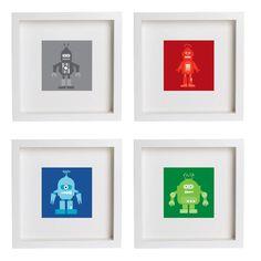 Adorable robot prints for the nursery
