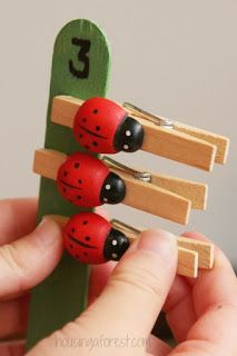 Ladybug Number Game for Preschoolers Number Games Preschool, Preschool Learning, Preschool Crafts, Math Activities, Teaching, Minibeasts Eyfs, Ladybug Nursery, Insect Crafts, Kindergarten Lessons