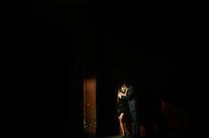 steamy wedding photo of couple kissing in shadows by Chowen Photography, Denver, Colorado wedding photographers | via junebugweddings.com