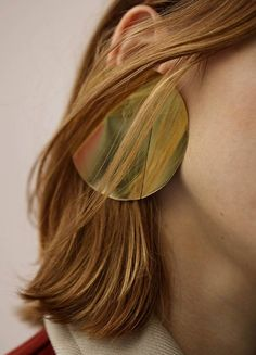 Céline Fall 2015 | Jewelry, earrings, accessories, gold, modern shapes, contemporary design, minimalism