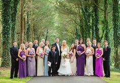 beautiful shades of purple, bridesmaids