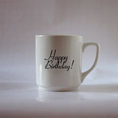 Happy Birthday Mug by Tolucreations on Etsy
