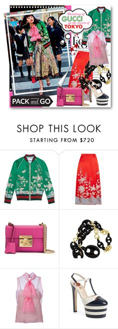 """""""#Pack and Go Tokyo - Thinking of Gucci"""" by nikkisg ❤ liked on Polyvore featuring Gucci, Chanel, gucci, tokyo and Packandgo"""