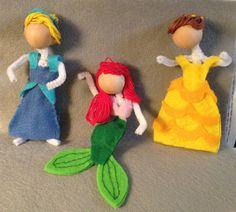 Disney princess pipe cleaner dolls