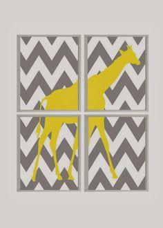 Modern Giraffe Print - winner's choice of colors | Online auction for Ekubo Children's Home in Uganda!!!