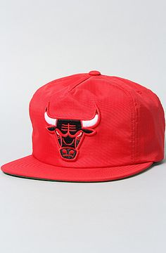 4df1681eb1c The Chicago Bulls Nylon Zipback Snapback by Mitchell   Ness Dope Hats