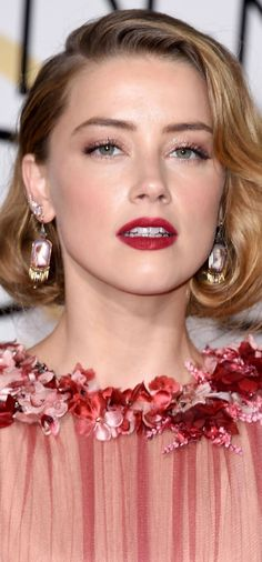 Amber Heard - Golden Globes 2016 / Makeup by Melanie Inglessis at Forward Artists