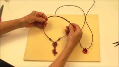 Antelope Beads - How To Make A Leather Slider Knot For Making Jewelry. A slider knot is great for necklaces or bracelets that need to be easily adjustable. In this video, Elaine shows you how to make a simple slider knot with leather cord in both single- Jewelry Knots, Jewelry Clasps, Macrame Jewelry, Leather Jewelry, Leather Cord, Jewellery, Kazuri Beads, How To Make Leather, Diy Jewelry Tutorials