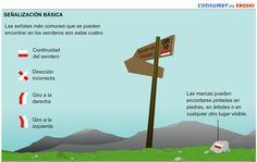 Serie de infografías sobre senderismo, desarrolladas por Eroski-Consumer