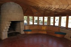 master bedroom- frank lloyd wright home phoenix