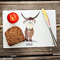Frühstücksbrettchen mit Sternzeichen STIER