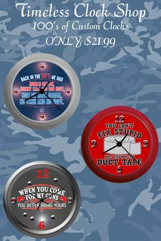 Election Day Gift Ideas. Check Out More Custom Clocks at The Timeless Clock Shop.