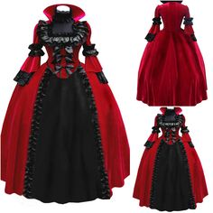 Image result for black and red renaissance dress