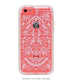 The intricate Lace iPhone 5c case ($36) from Rifle Paper Co. complements the phone's color perfectly. I love this case!!