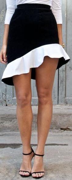 pretty asymmetrical ruffled ♥✤   Keep the Glamour   BeStayBeautiful