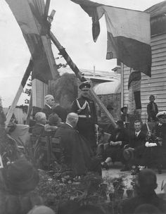 Laying of the foundation stone of the Hawke's Bay Art Gallery and Museum, 18 July collection of Hawke's Bay Museums Trust, Ruawharo Tā-ū-rangi, Museums, Trust, Foundation, Art Gallery, Lens, Stone, Collection, Art Museum, Rock
