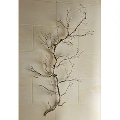 Twig Wall Art - Nickel, ,