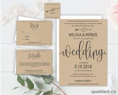 Rustic wedding invitation template wedding invitation templates this rustic wedding invitation set includes seven high resolution templates these bow and heart printable wedding invitations are a great diy solution for filmwisefo