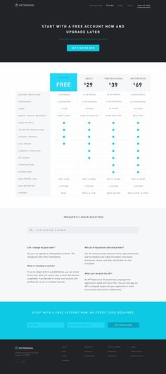 #pricing - unique + shared features. Adterminal Marketing Website by Chris Griffith for Octopus