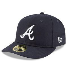 Atlanta Braves New Era Fan Retro Low Profile 59fifty Fitted Hat Navy Fitted Hats Atlanta Braves Braves