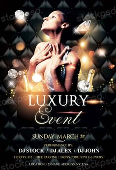 Luxury Event Free PSD Flyer Template - http://freepsdflyer.com/luxury-event-free-psd-flyer-template/ Enjoy downloading the Luxury Event Free PSD Flyer Template created by Stockpsd! #Club, #Deluxe, #Elegant, #Luxury, #Nightclub, #Party