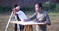 Plane Table Surveying is a graphical method of survey in which the field observations and plotting are done simultaneously. It is simple and cheaper than theodolite survey. It is most suitable for small scale maps. Scale Map, Civilization, Plane, Maps, Creatures, Crafty, Simple, Table, Blue Prints