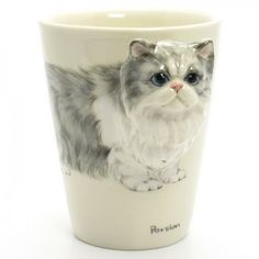 Persian Cat Mug Ceramic Handmade Cat Lover Coffee Cup Decor Gifts Cat Coffee Mug, Cat Mug, Coffee Cups, Gifts For Pet Lovers, Dog Gifts, Cat Lovers, Cat Cookie Jar, Cookie Jars, Ceramic Animals