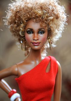 Repainted Barbie Dolls | Whitney Houston Dolls: custom made and Ebay music video dolls in ❤