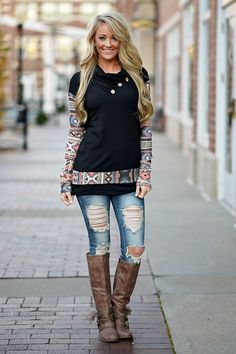Time of the Season Sweater - Black – The Pulse Boutique