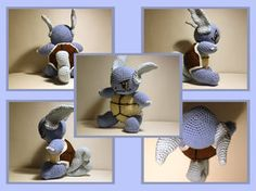 Pokemon: Wartortle - Free Amigurumi Pattern here: http://knitting-and-crochet.deviantart.com/gallery/29451579/Patterns-and-Tutorials