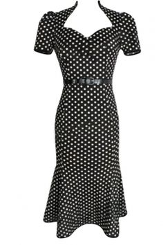 13d1a1fe04  Black Ladies  Polka  Dot Praty  Midi Dresses with Sash Party Dresses For